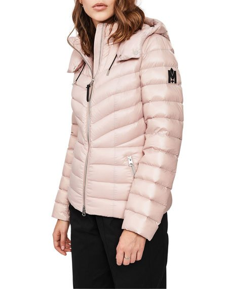 Judie Fitted Lightweight Down Jacket