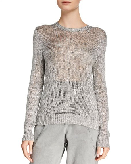 Domus Metallic Knit Sweater