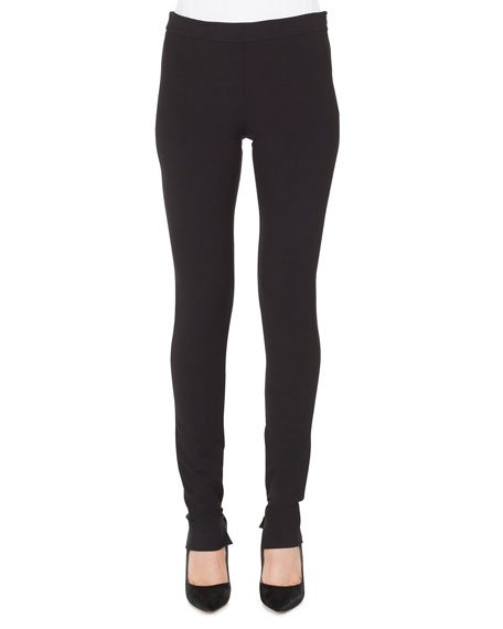 Melissa Skinny Side-Zip Stretch-Flannel Pants