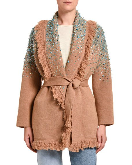 Rainy Day Embroidered Cardigan