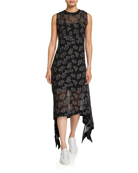 Toshiko Seam Printed Asymmetrical Dress