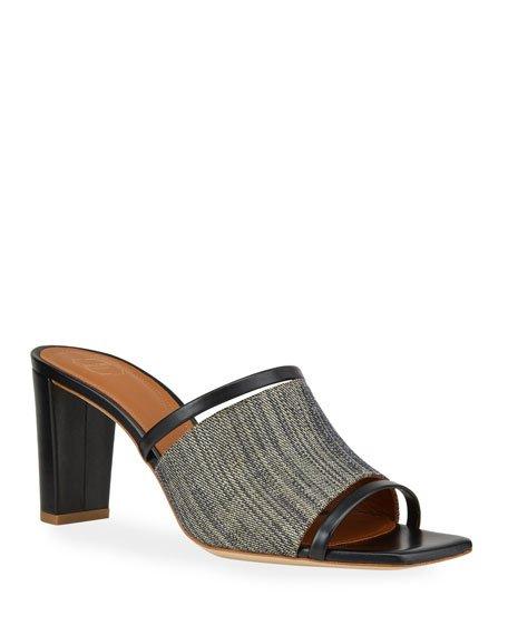 Demi 70mm Raffia Mule Sandals