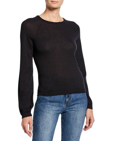 Cashmere Classic Jewel-Neck Sweater