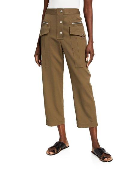 Wool Snap Cargo Pants