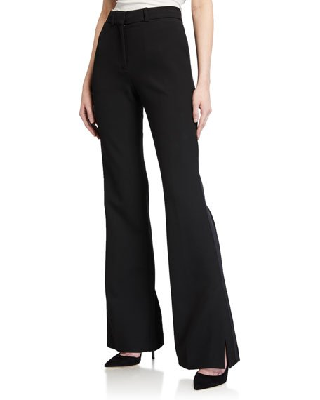 Split-Hem Tuxedo Trousers