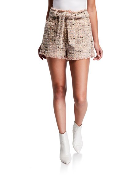 Vany Belted Tweed Shorts