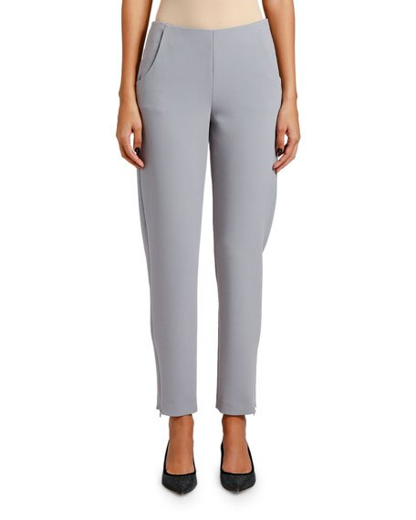 Skinny Zip-Cuff Pants