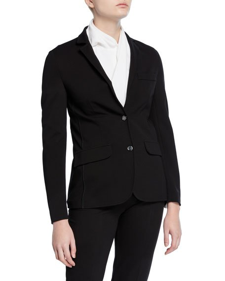 Jersey Two-Button Blazer