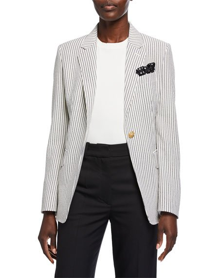 Acerbo Ticking-Striped Blazer