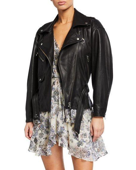 Ikem Leather Moto Jacket
