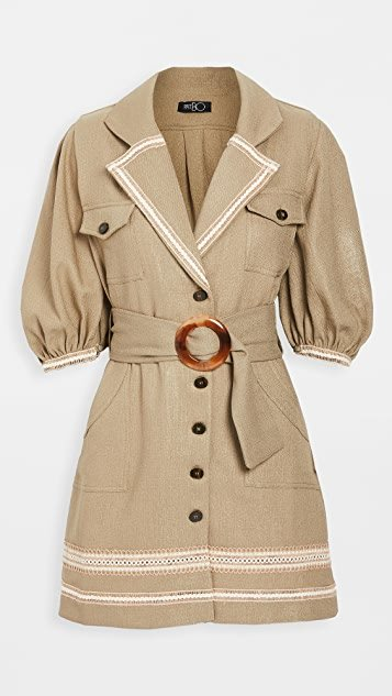 Belted Linen Mini Dress