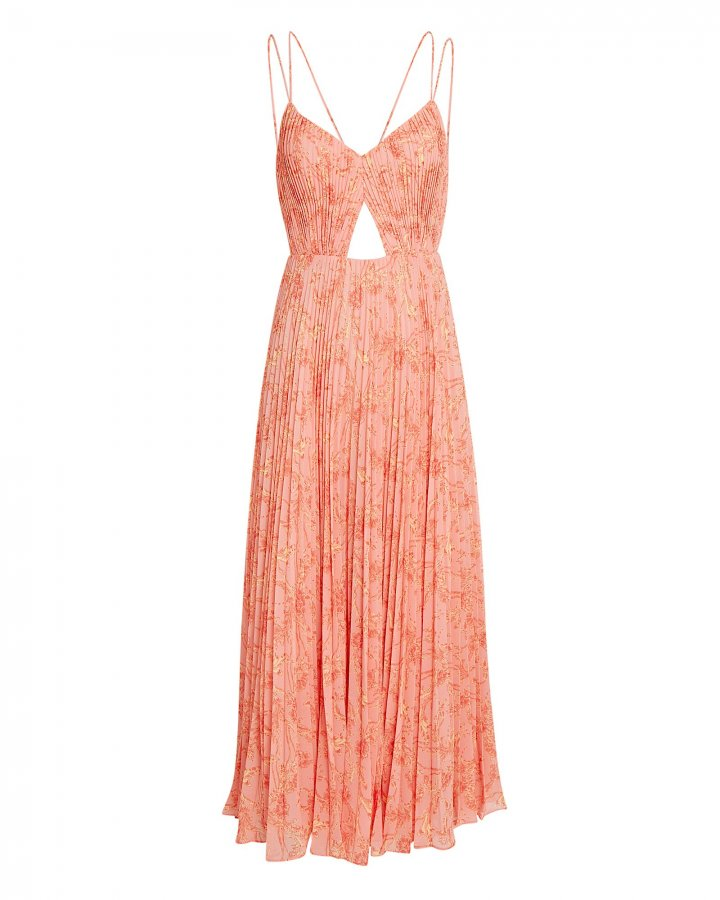 Lucy Pleated Maxi Dress