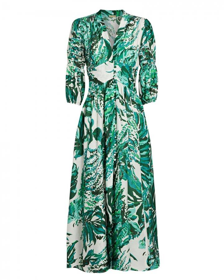Willow Silk-Cotton Midi Dress