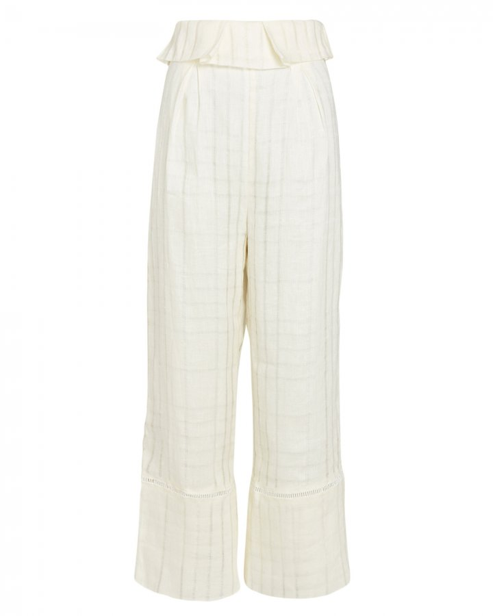 Elle Cropped Linen Pants