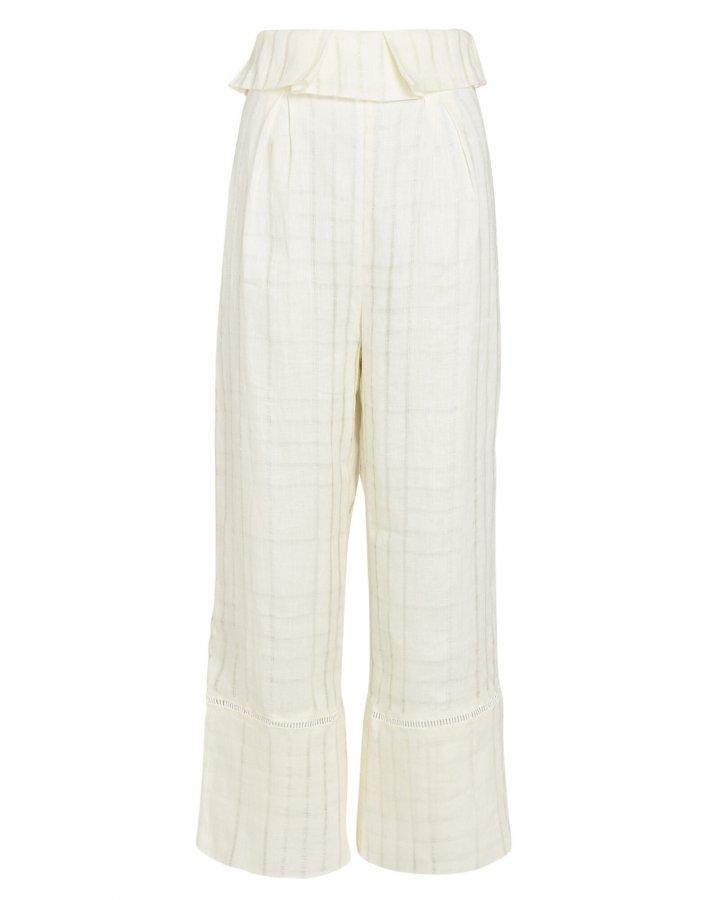 Elle Cropped Linen Pants