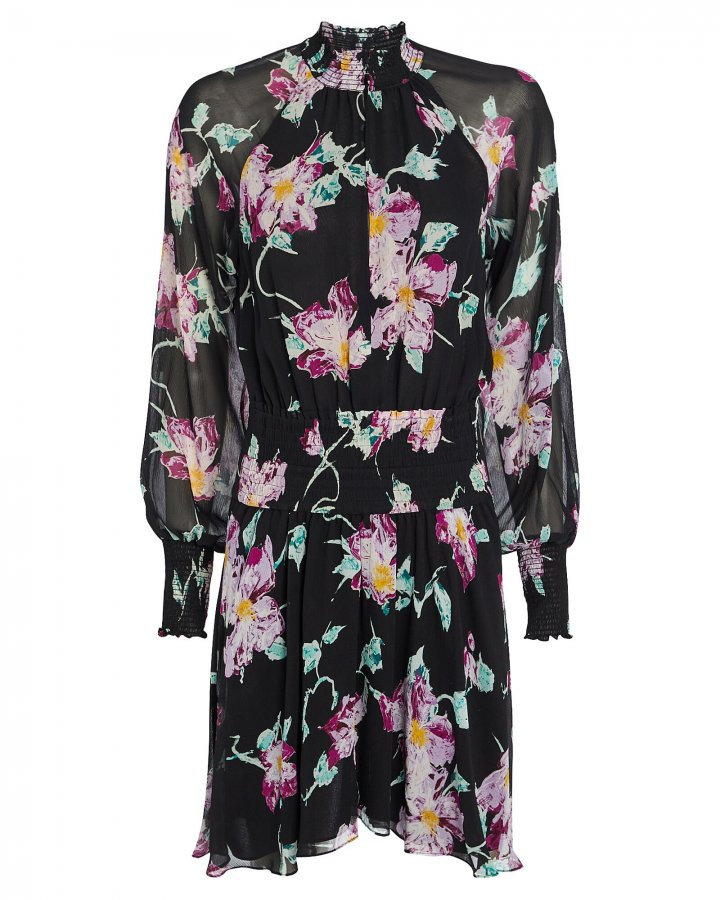 Hollis Floral Silk Dress