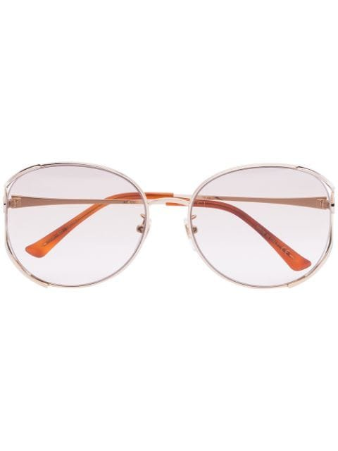 Gucci Eyewear round-frame gold-tone Sunglasses