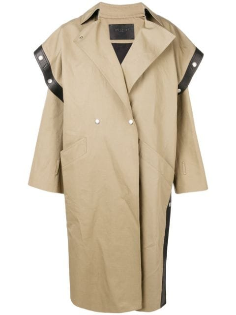 Givenchy Square-Shoulder Oversized Trench Coat Aw18   Farfetch.com