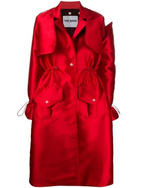 Thebe Magugu Cinched Waist Trench Coat