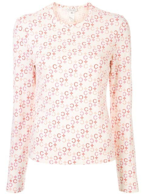 Céline Pre-Owned Macadam Print Long-Sleeved T-Shirt Vintage | Farfetch.com