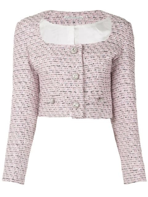 Alessandra Rich Embroidered Fitted Jacket