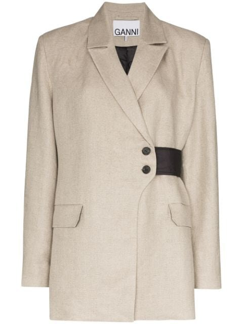 GANNI wrap-detail Blazer Jacket