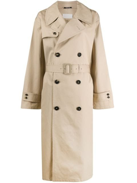 Maison Margiela Oversized Double-Breasted Trench Coat Ss20 | Farfetch.com