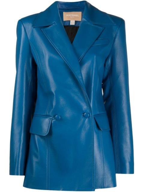 Matériel faux-leather Blazer