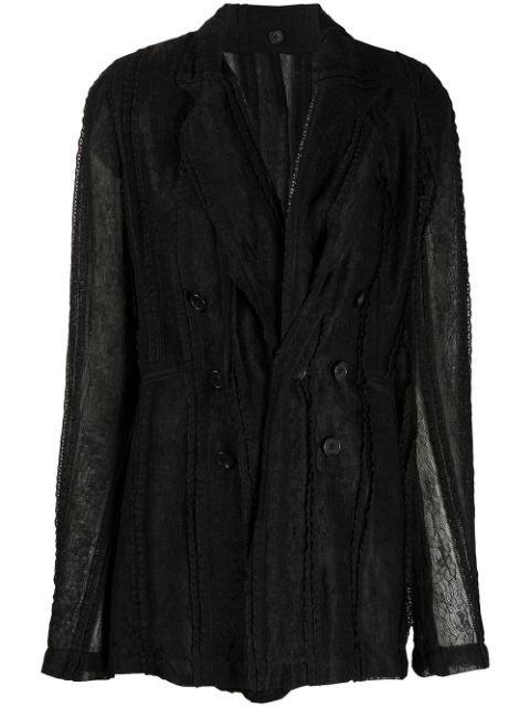 Ann Demeulemeester semi-sheer Blazer Jacket