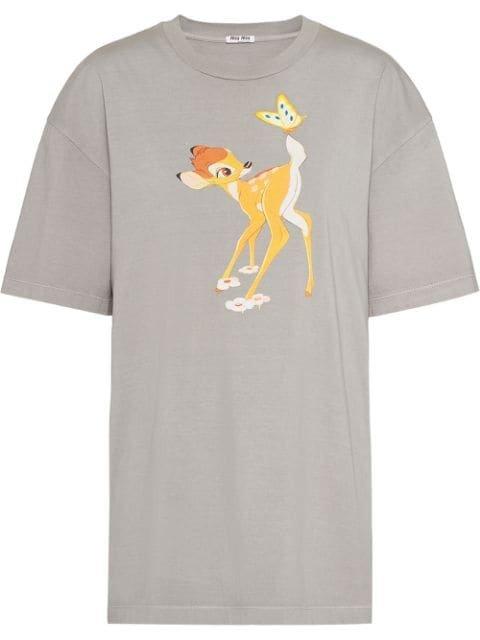 Miu Miu X Disney Bambi Print T-Shirt Ss20 | Farfetch.com