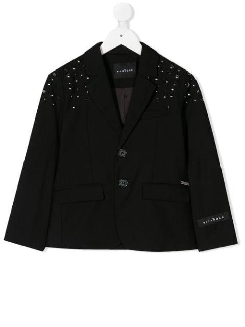 John Richmond Junior Single-Breasted Studded Blazer Ss20 | Farfetch.com