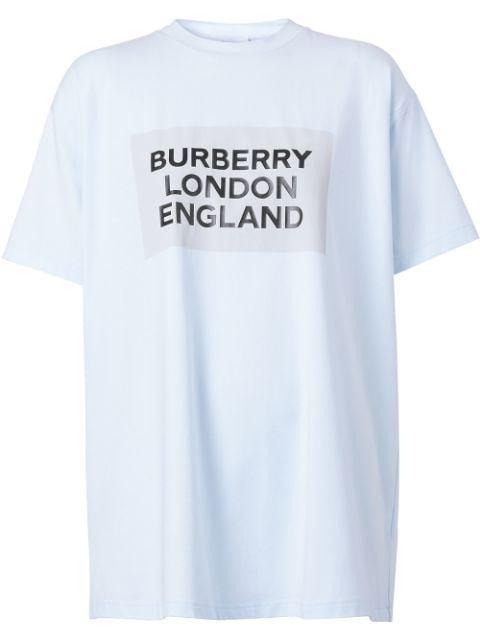 Burberry Logo Print Oversized T-Shirt Ss20 | Farfetch.com