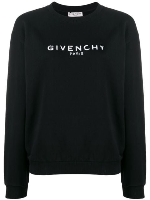 Givenchy Logo Print Cotton Sweater Ss20 | Farfetch.com