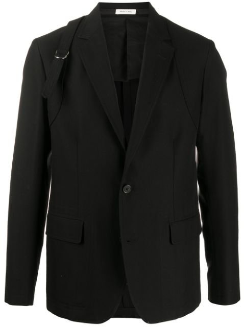 Alexander Mcqueen Buckle Strap Single-Breasted Blazer Ss20 | Farfetch.com