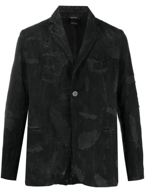 Avant Toi Distressed Single-Breasted Blazer Ss20 | Farfetch.com