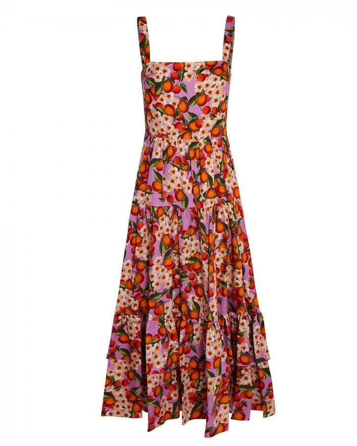 Daniela Lemonade Poplin Midi Dress