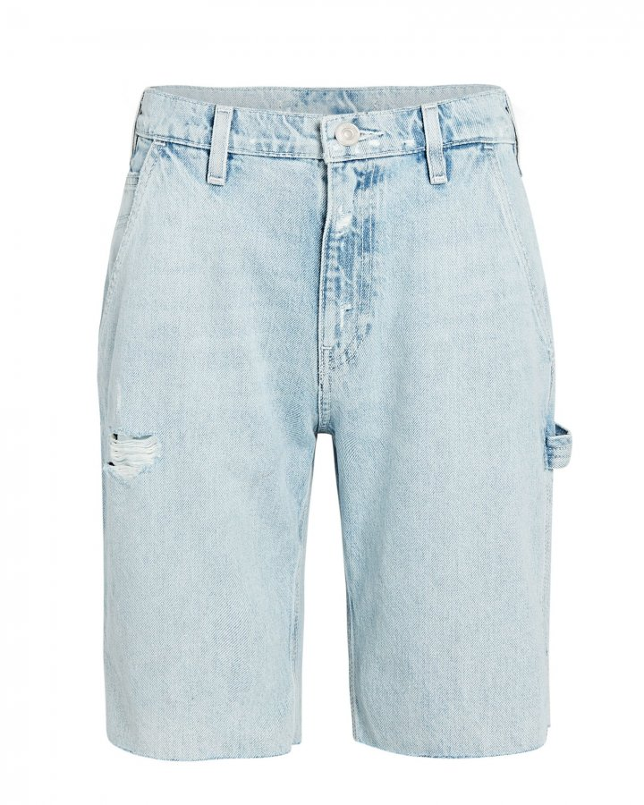 Carpenter Knee-Length Denim Shorts