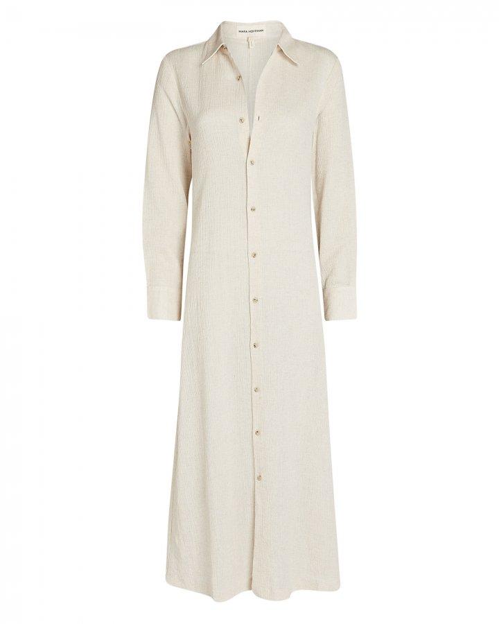 Cinzia Cotton-Linen Shirt Dress