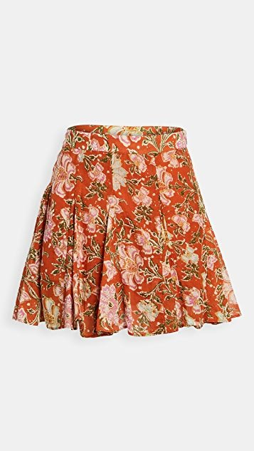 End Of The Island Godet Skirt