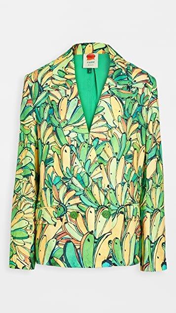 Green Banana Linen Blazer