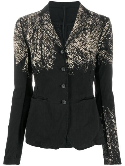 Masnada Acid Crinkled Effect Blazer