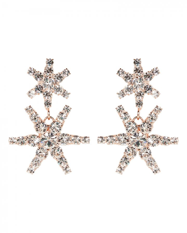 Pluto Crystal Star Drop Earrings