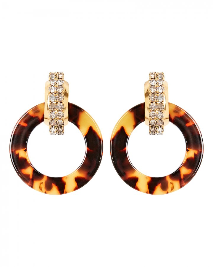 Henrietta Crystal-Embellished Hoop Earrings
