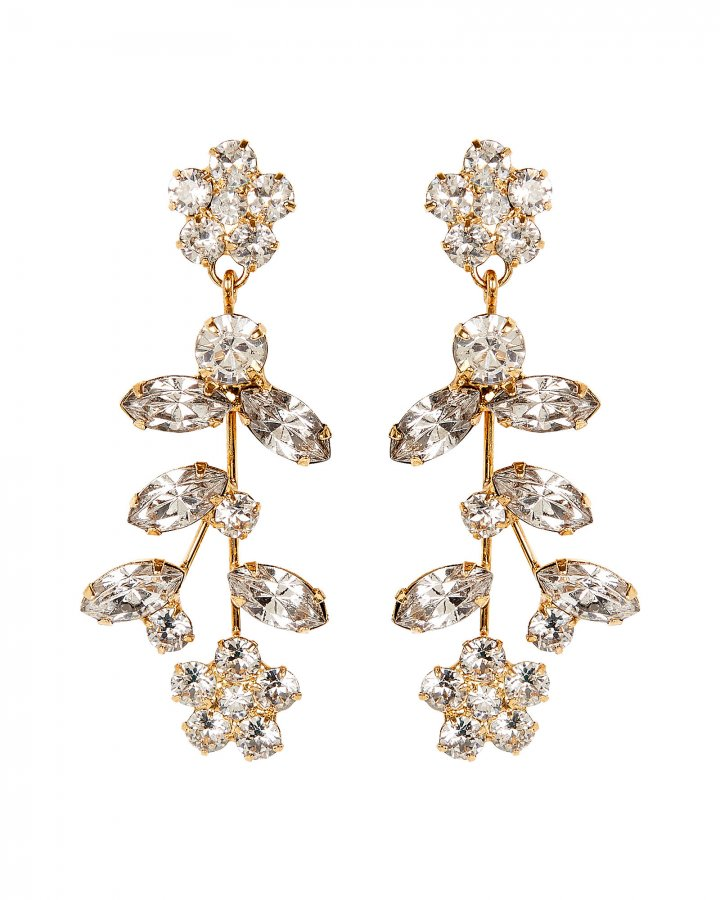 Andrea Crystal Flower Earrings