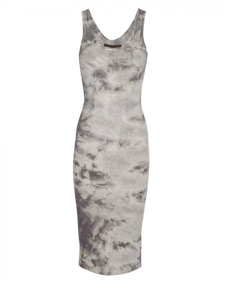 Tie-Dye Rib Knit Tank Dress