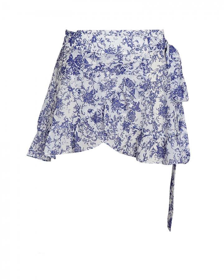 Floral Chiffon Wrap Skirt