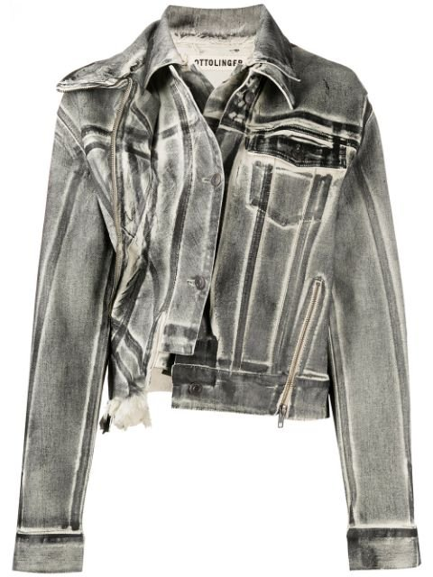 Ottolinger x ISKO double-collar Denim Jacket