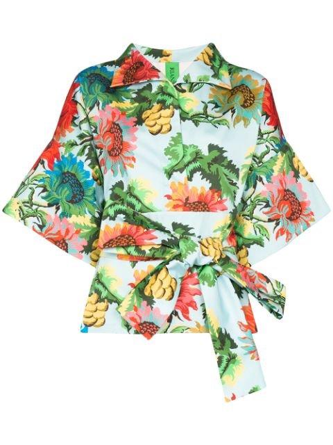 Rianna + Nina Claudia Floral Print Belted Jacket