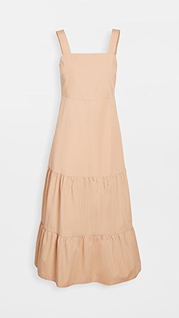 Poplin Tank Tiered Midi Dress