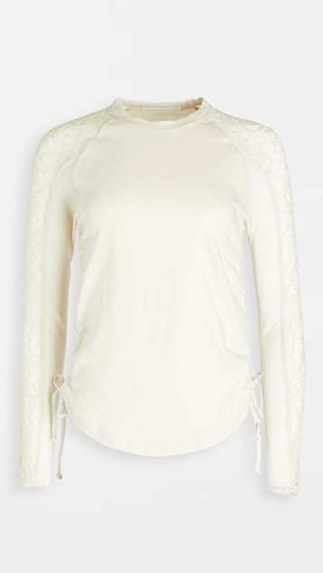 Riley Textured Jersey Top